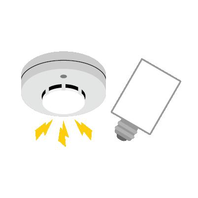 煙感知器・グローランプ