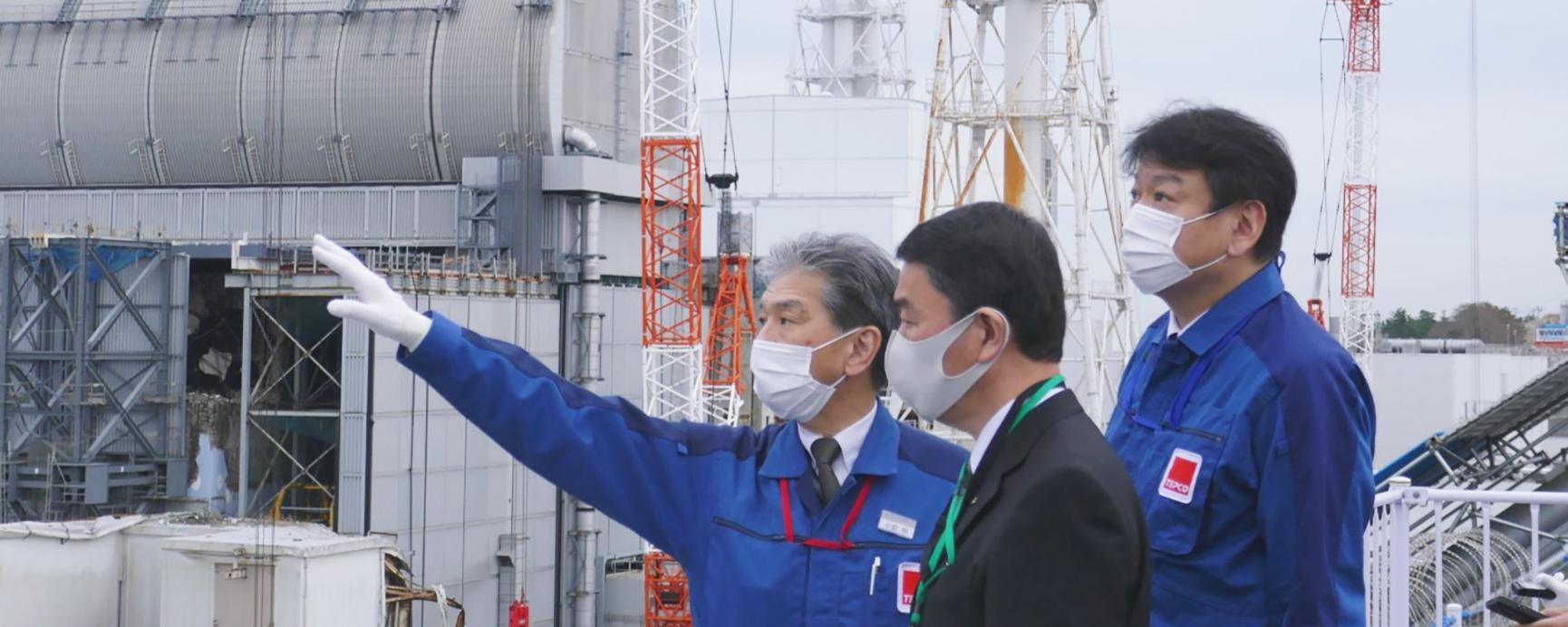 宮城県知事による福島第一原子力発電所の視察